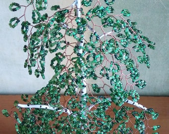 Tree of beads // Birch from beads // Decor for home