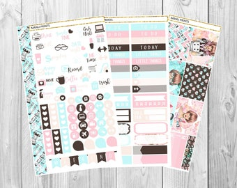 Kawaii Girl Personal Planner Stickers