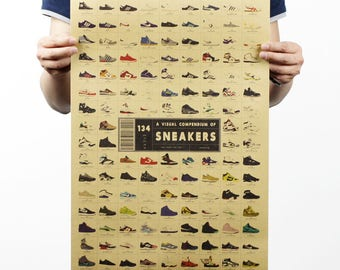 Sneakers shoes Wall Decoration for cafe restaurant decoration wall art poster vintage high quality