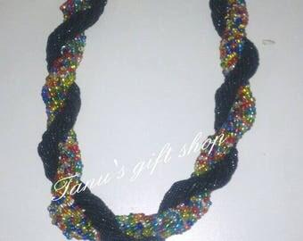 Chunky twisted maasai necklace