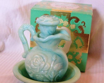 Vintage Avon Pitcher and Bowl