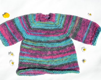 Dress made of socks wool -Waldorf doll clothes Steiner doll clothes Waldorf doll dress Steiner doll dress socks yarn wool knitwear