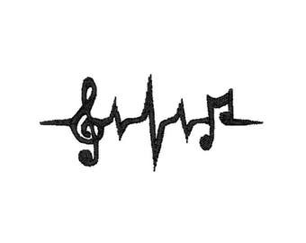 Music Pulse Machine Embroidery Design – Instant Download (PES, DST, and MORE)