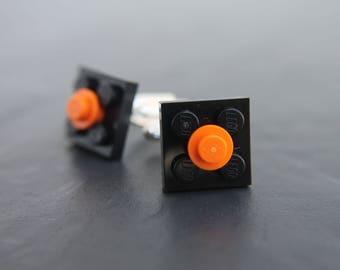 Cufflinks Black and Orang funky