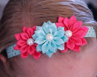 Custom 3-Flowered Headband