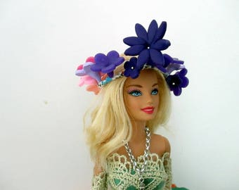 Wreath beadworks for Barbie dolls