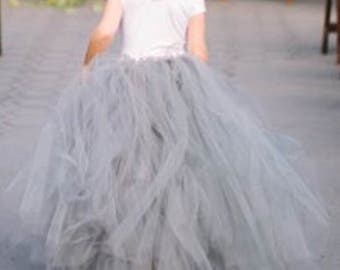 Uk based Handmade tulle skirts perfect for flower girl weddings party's birthdays tutu any colour or length