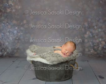 Digital background Newborn Composing bucket, instant download