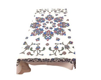 Turkish traditional Table Cloth Handmade painted