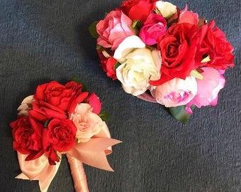 Wrist Corsage, Red Rose Wrist Corsage, Rose Wrist Corsage, Wedding Corsage, Bridal Corsage, Flower Corsage, Boutonniere