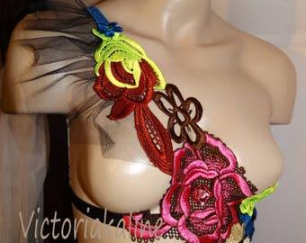Flowers - special collection - single model, creation Victoriakaline lingerie set