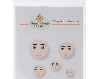Peachy Keen Stamps PK 591 Groom Faces
