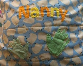 Handprint cushions