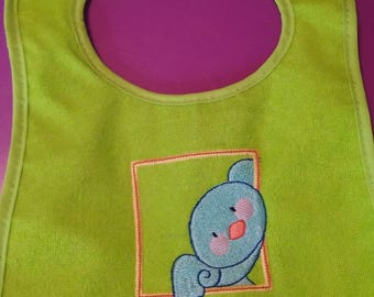 Embroidered Peek A Boo Bib