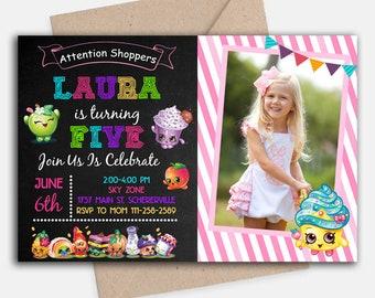 Shopkins Invitation/ Shopkins Birthday/ Shopkins Birthday Invitation/ Shopkins Party/ Shopkins Card/ Shopkins Invite/ Shopkins Images