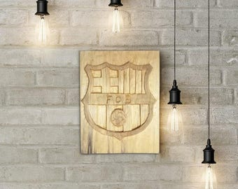 FC Barcelona Wooden Logo(Wood Carving)