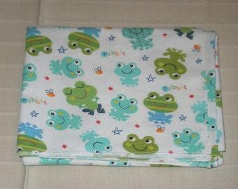 Froggie Themed Baby Receiving Blanket