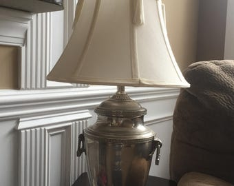 Vintage Silver Landers Frary & Clark Coffee Urn Percolator Lamp