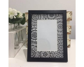 4x6 Patterned Photo Frame Black