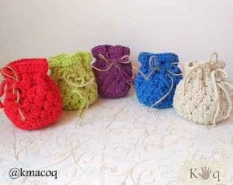 Gift for invited crochet bag