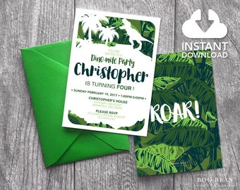 Dinosaur Birthday Invitation | Dinosaur Invitation | Boys invitation | Dinosaur Birthday Party | Dino Invitation | Dinosaur Party