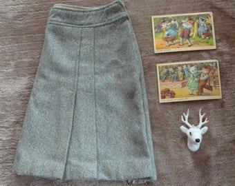 Skirt vintage 1970 / size S-36 a-line shape