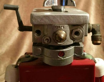 OOAK Found Object Robot Phone Charger and 4AMP Outlet