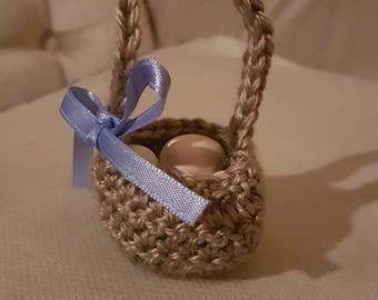 Handmade favor baskets