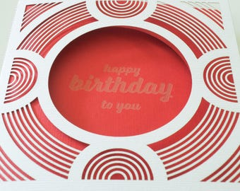 Laser Cut Circle Birthday Card