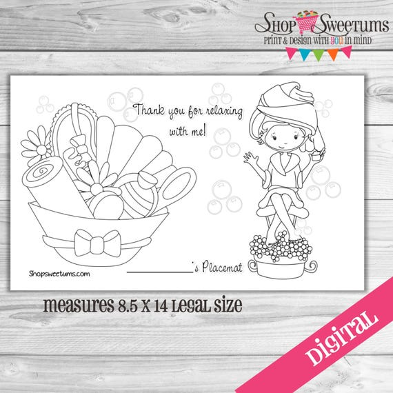 spa party coloring pages - photo#19