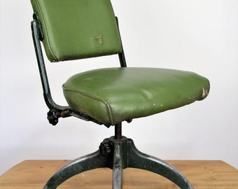Reduced! Save 100 pounds! Vintage Tan-sad Workers/desk chair 1950/60's