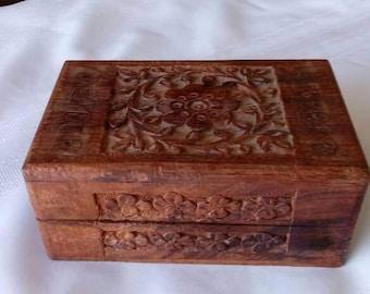 Sheesham Wood Jewelry Box Made in India