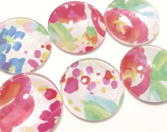 Springtime Flower Watercolor Illustration Fridge Magnets, Watercolor Kitchen  Decor, Motheru0027s Day Gift, Floral