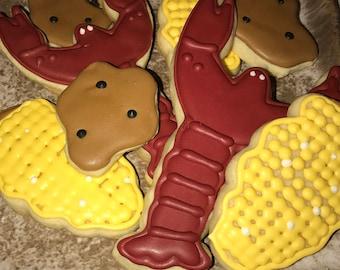 Crawfish boil cookies