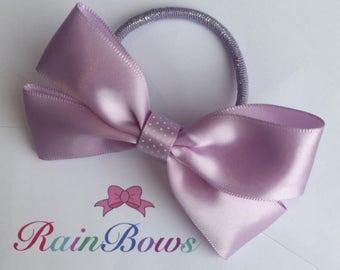 Lilac satin bow