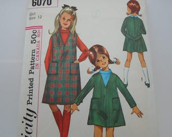 Sewing Pattern Vintage Girl's Simplicity 6070