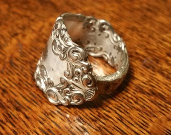 Spoon Ring Size 7 Flower Design - Free Shipping US