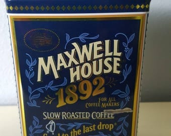 Vintage Maxwell House 100th year Anniversary Coffe tin