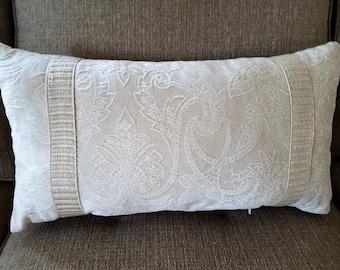 """Chenille tone on tone 21 x 12"""" Pillow Cover - Designer Fabric"""