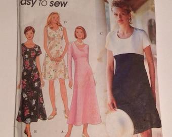 Simplicity 9675 Vintage Dress Pattern sizes 12-14-16