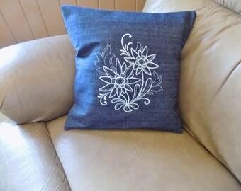 Winter Floral 2 Toss Pillow Cover