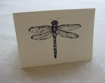 6 Handmade Dragonfly blank notecard set