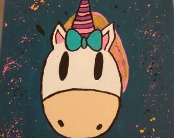 Unicorn * Hand painted * Be Magical * 11x14 canvas * Art *Acrylic Paint