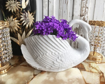Vintage Swan Pottery Big Flower pot