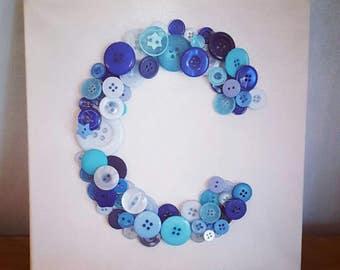 Button Letter Canvas