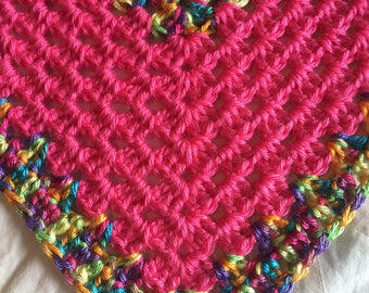 Baby Toddler Blanket, Hand Crocheted