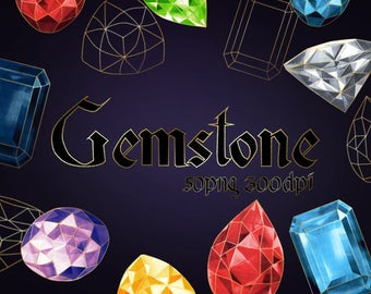 Gemstones Clip Art - Digital Cliparts