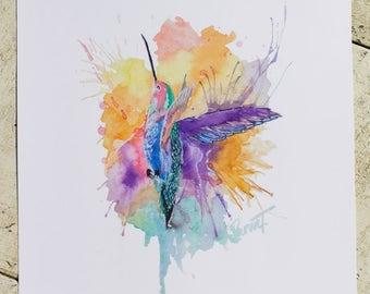 Art Print, Bird, Digital Download, Digital Print, Hummingbird, Instant Download, Painting, Printable Art, Print, Watercolor