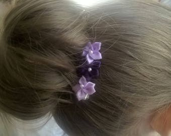 Flower Hairclips- Free Shipping in U.S.!