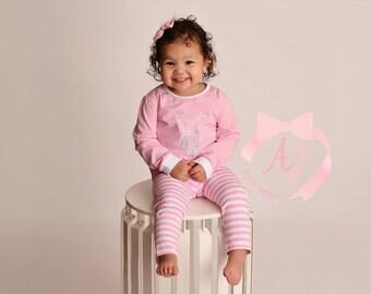 Pink and White Loungewear